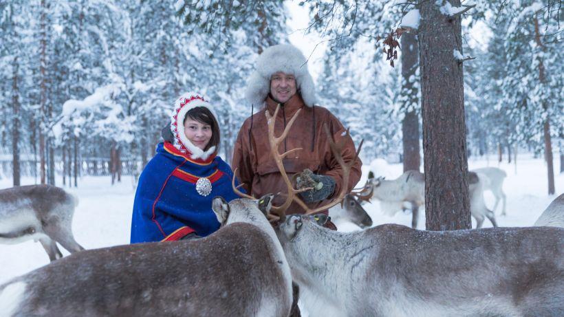 At the Jaakkola sami reindeer farm