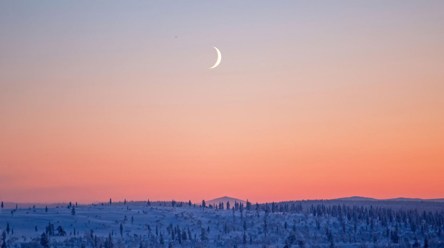 Pastel Polar night & moon
