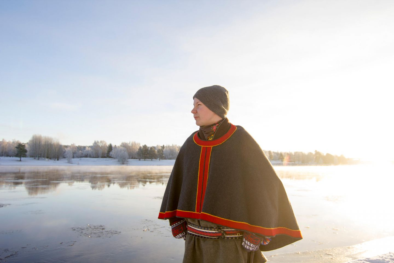 Sami poet and activist Niillas holmberg