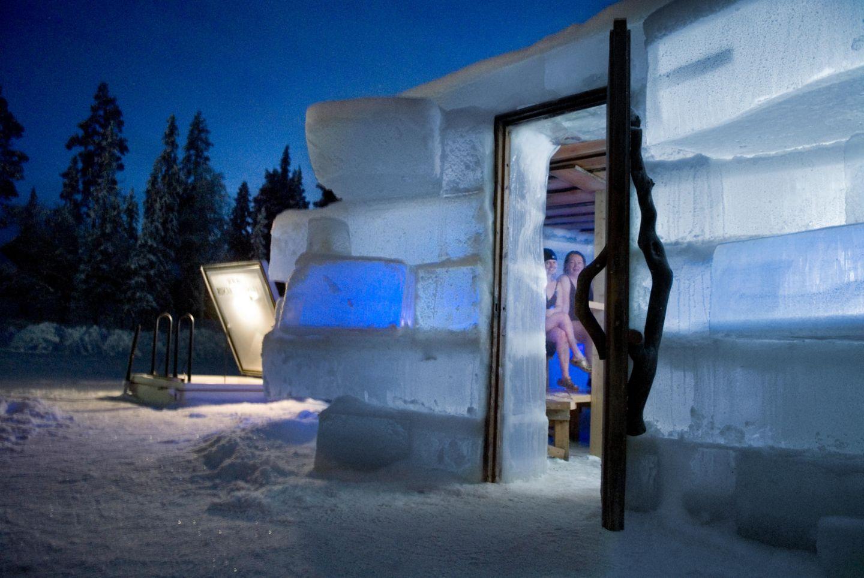 Ice Sauna in Ruka, Finland