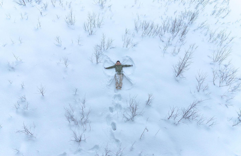 snow angel | snow construction