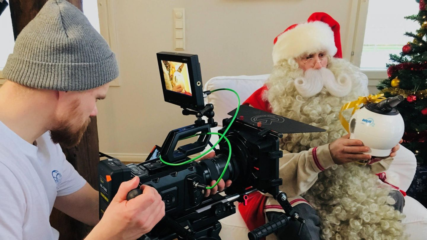 Filming Santa Claus with Photokrafix, a film production service provider