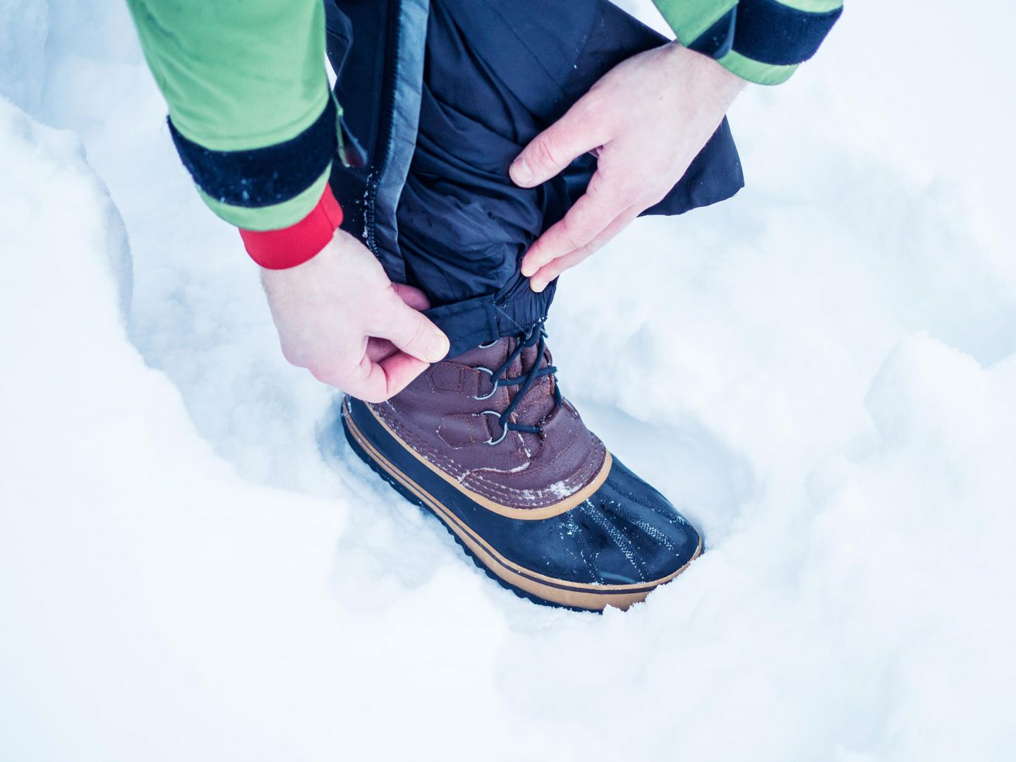 Winter pants cover your boots