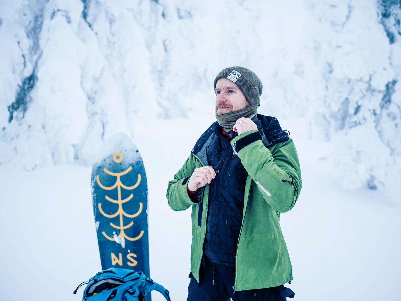 A heavy snow jacket will keep you warm