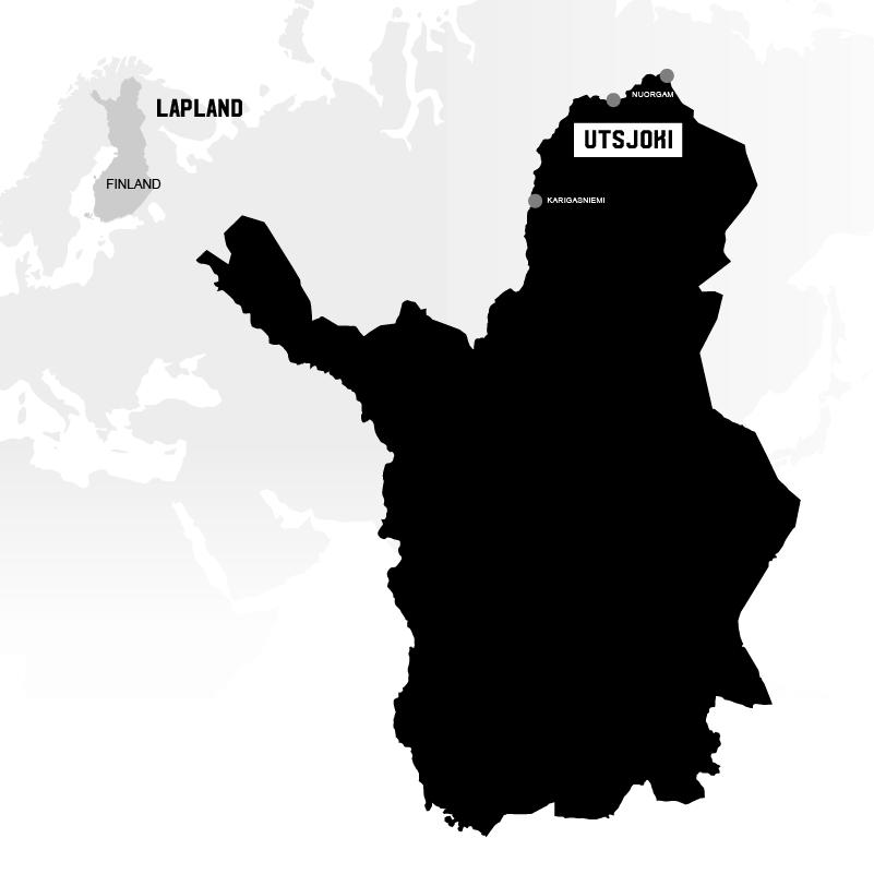 Utsoki in Lapland map
