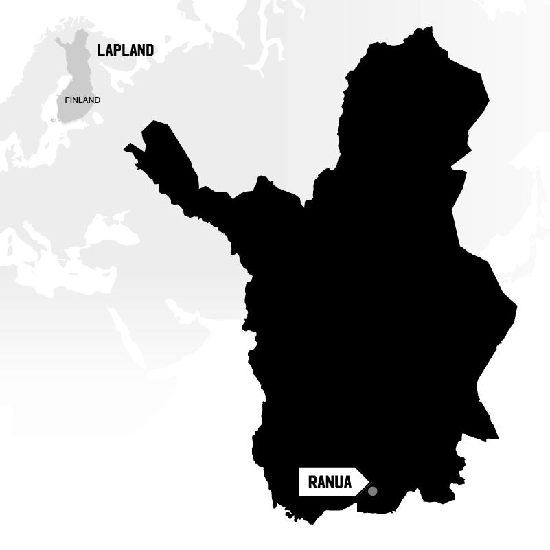 Ranua in Lapland map location
