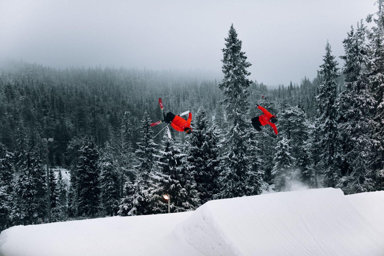 Skiing in Ruka-Kuusamo, Finland