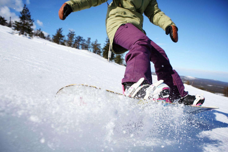 Snowboarding in Pyhä-Luosto,Finland