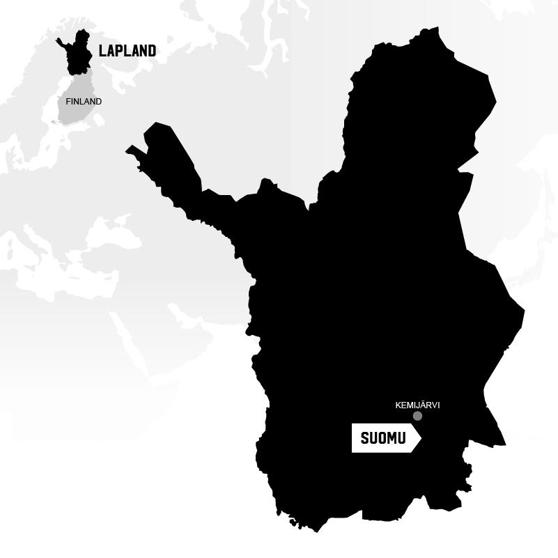 Kemijärvi in Lapland map location