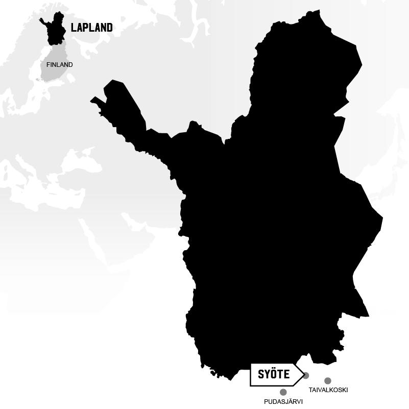 Syöte Taivalkoski in Lapland map location