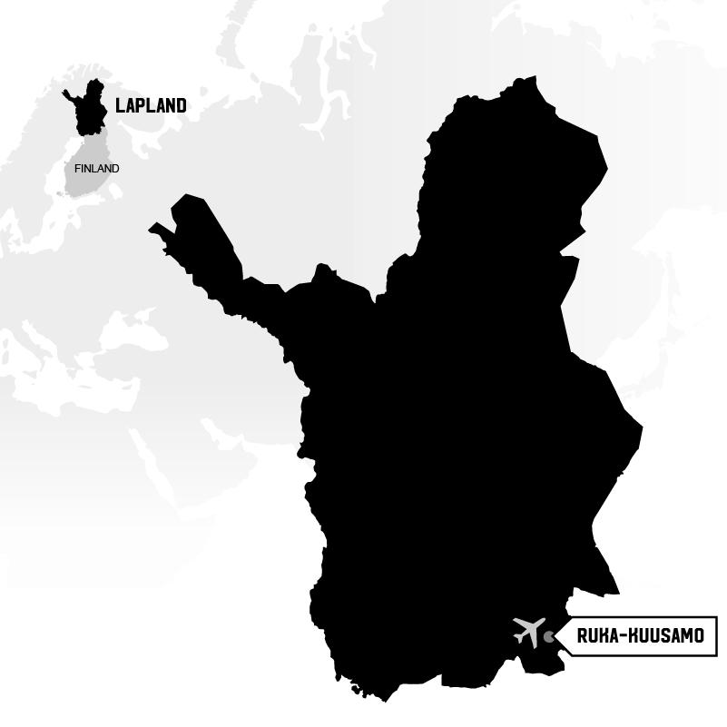 Ruka Kuusamo in Lapland map location