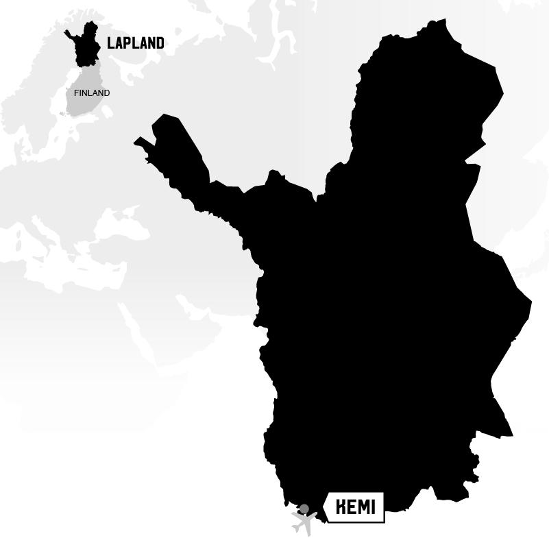 Kemi in Lapland map location
