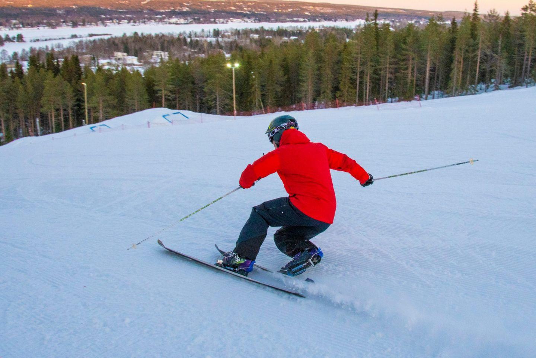 Skiing in Rovaniemi, FInland