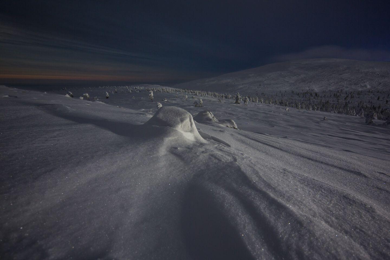 A snowy hill