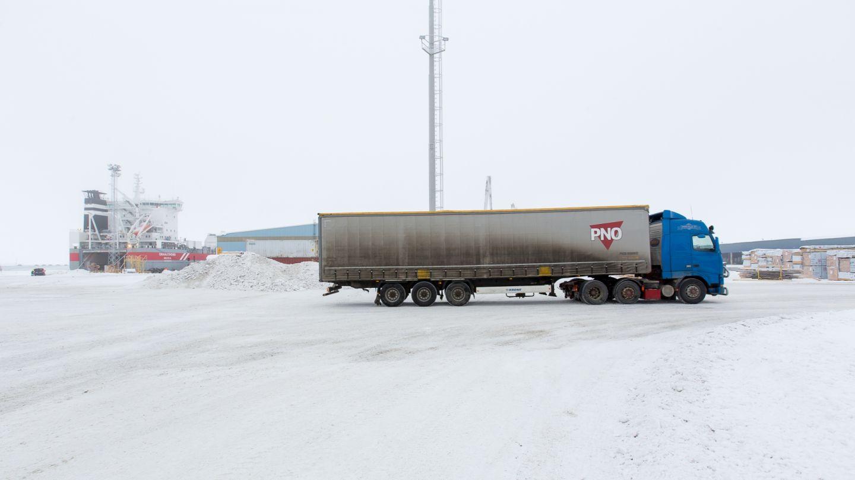 Lapland arctic truck platooning