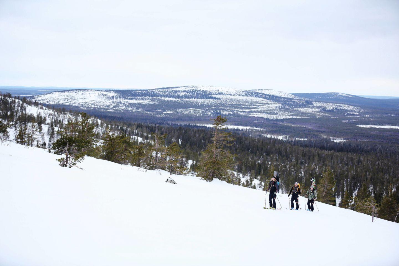 Skiing in Pyhä-Luosto, Finland