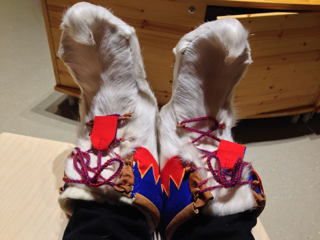 Raindeer boots culture in lapland
