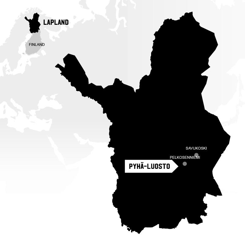 Pyhä Luosto in Lapland map location