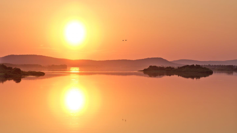 Midnight sun in Aavasaksa - Ylitornio, Lapland Finland
