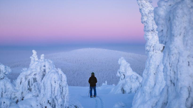 Polar night in Salla Finland