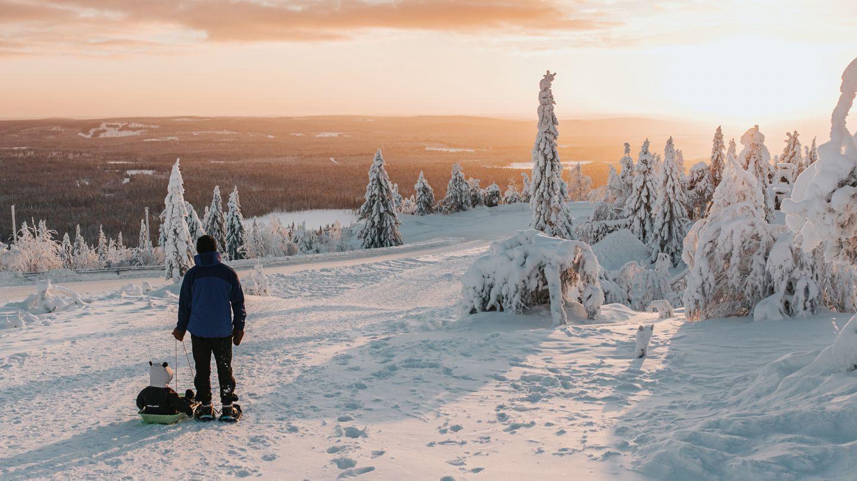 snowy landscape in Syöte, Finland