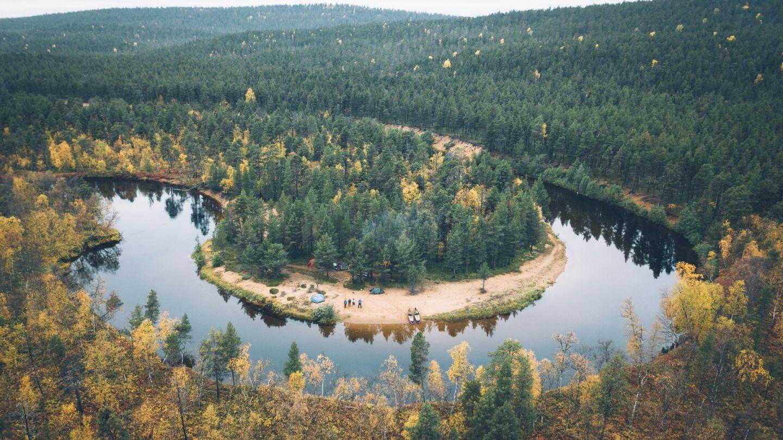 River Lemmenjoki in Inari Saariselka, Finland