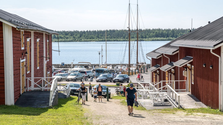 Kemi summer harbor in finland