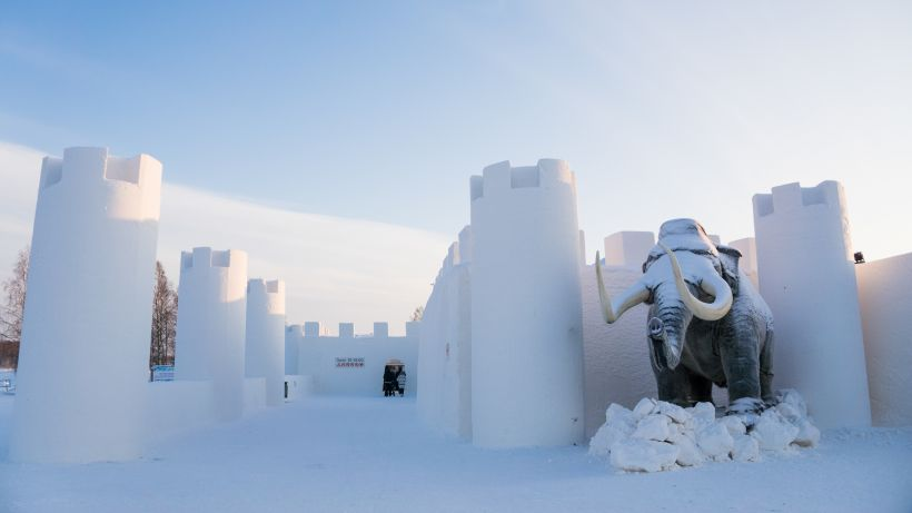 Ice castle in Kemi, Finland