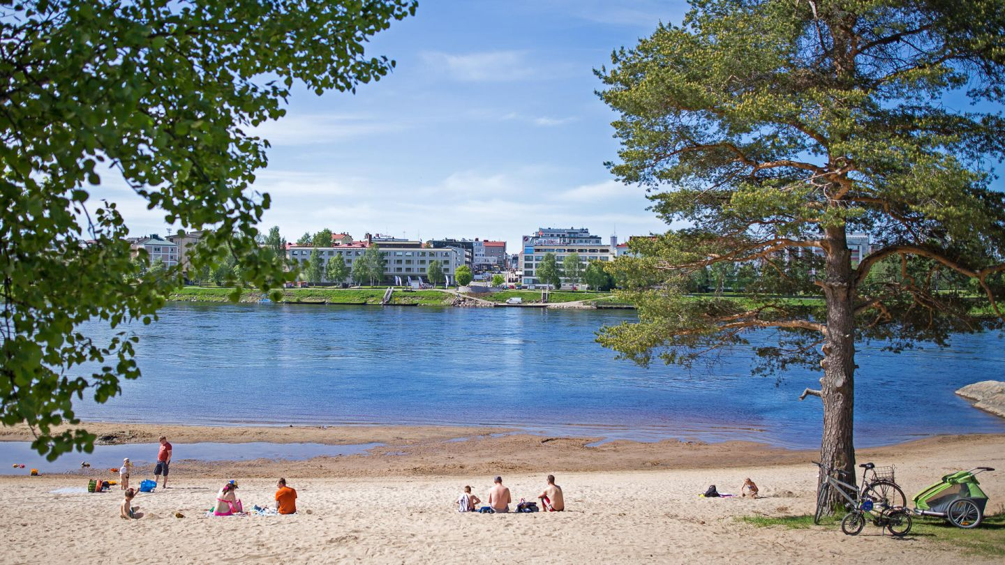 Beaching in Lapland during summer