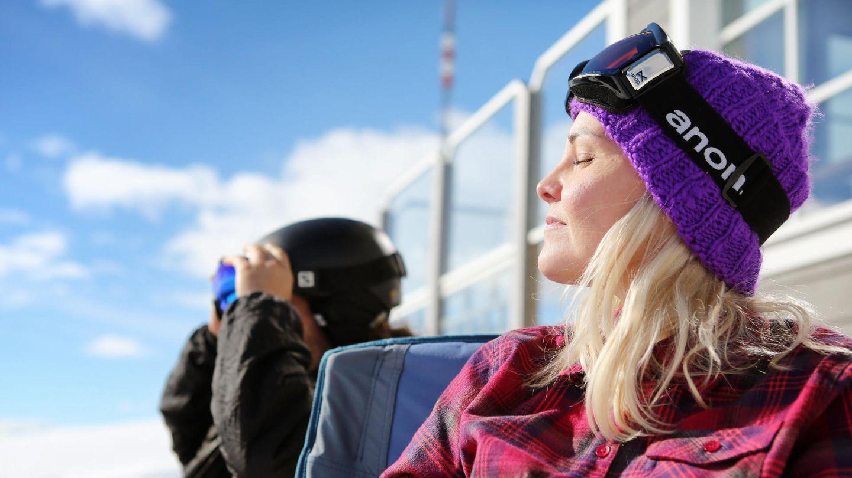 Enjoying the Lapland spring sun
