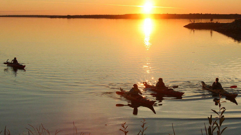 Kayaking under the Midnight Sun in Lapland