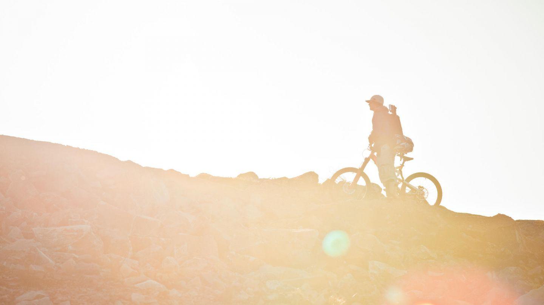 Mountain biking under the Lapland summer sun