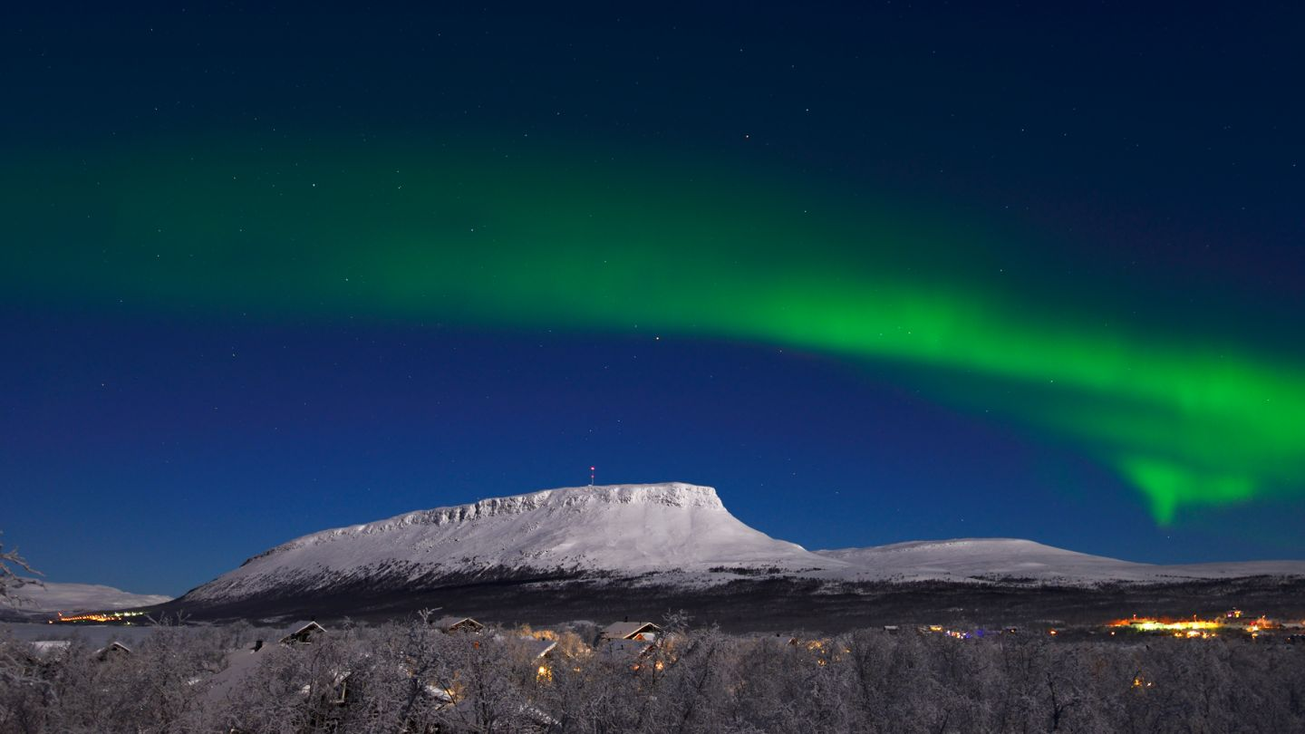 Northern Lights over Saana Fell, Enontekiö, Finland