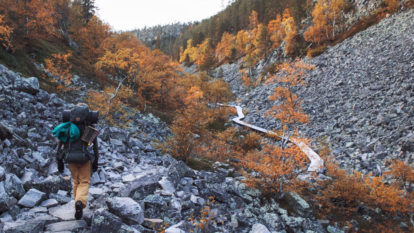 Autumn hiking trip in Pyha Finland