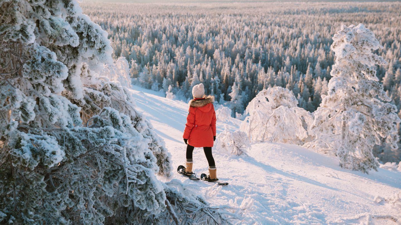 Snowshoeing in Ylläs, Lapland