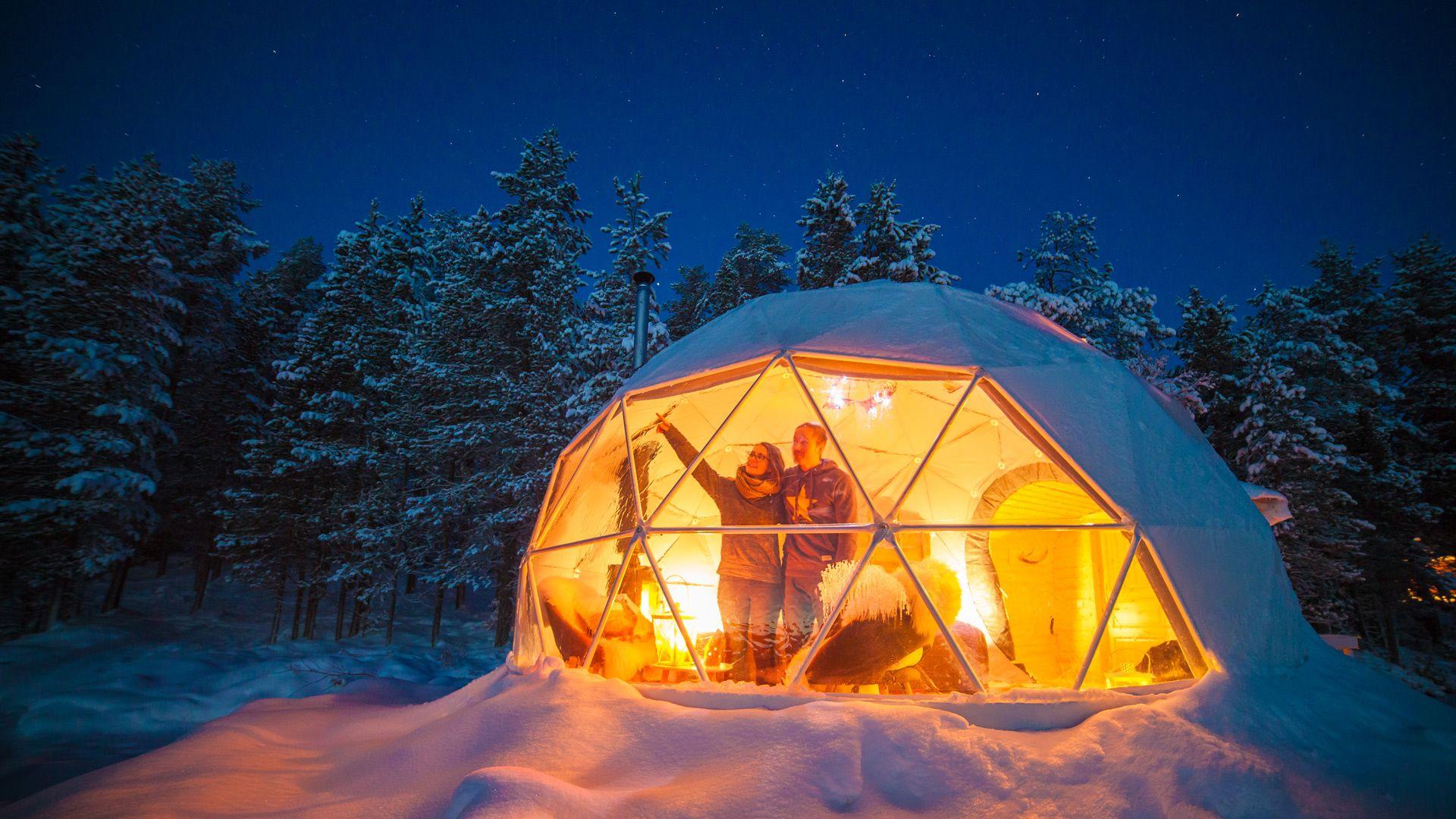 Glamping in Muonio, Finland