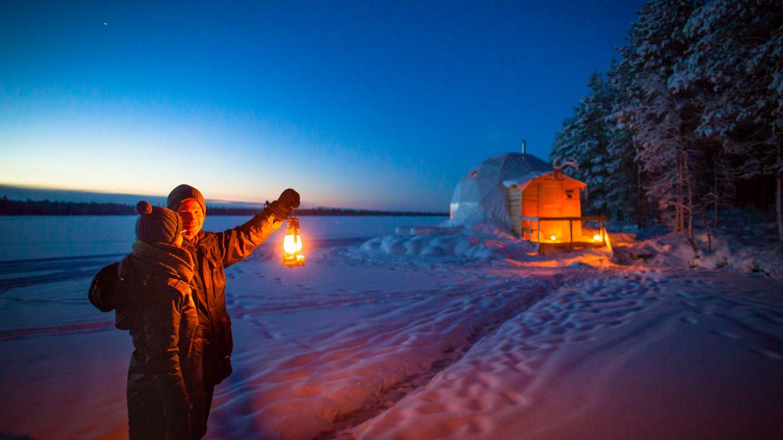 Torassieppi aurora bubble in Muonio, Finland