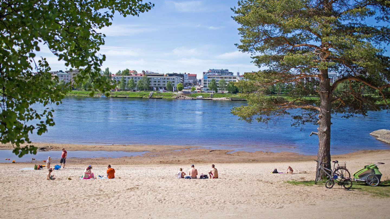 Summer beach trip in Rovaniemi, Finland