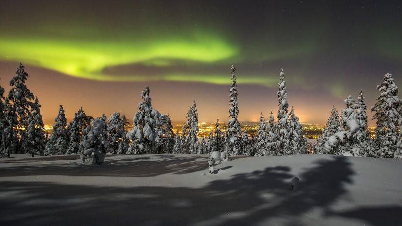 Northern Lights trip in Rovaniemi, Finland