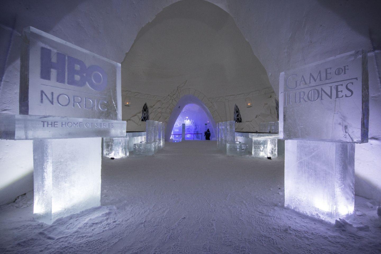 Työ Lapissa lumilinna Game of Thrones teema yhteistyö HBO Nordica