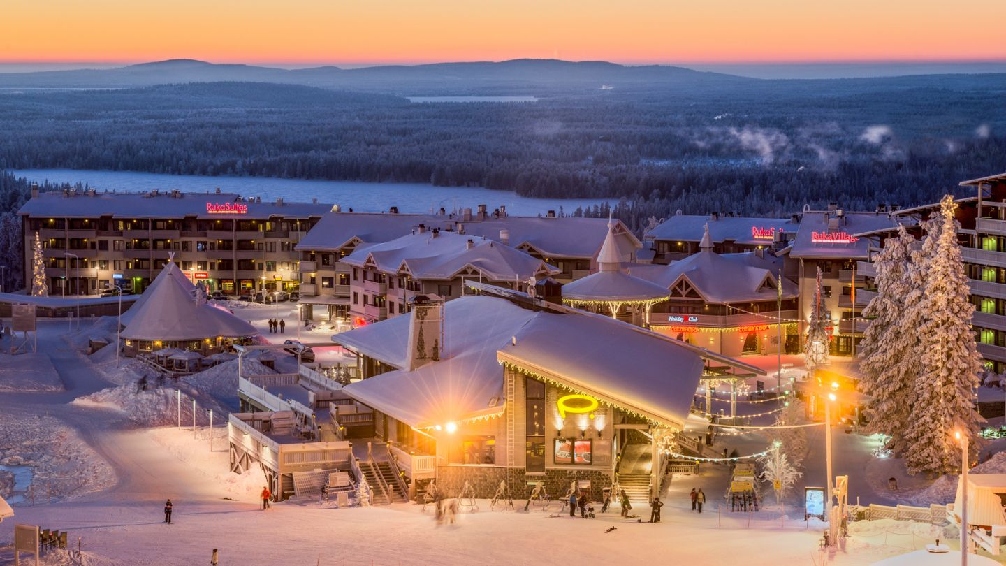 Winter holiday village in Scandinavia, Ruka Finland