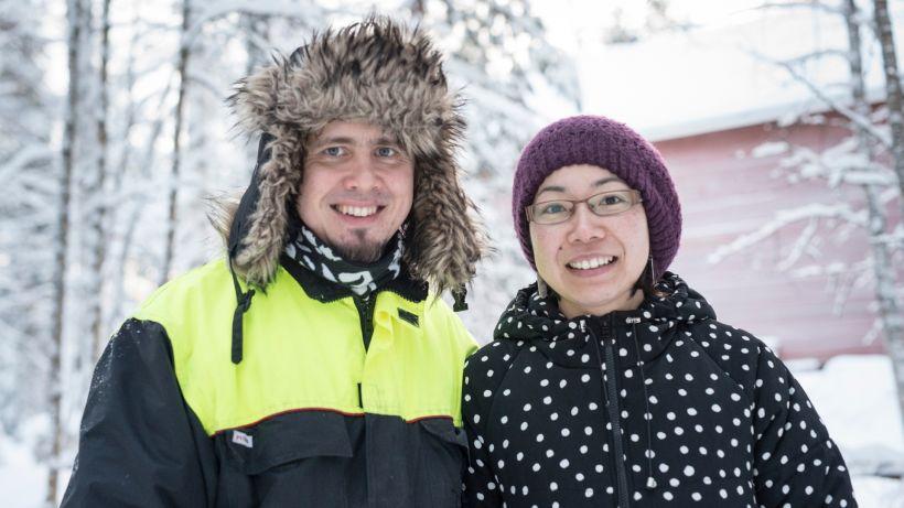 Katsumi ja Antti-Jussi yrityksen perustaminen Lapissa
