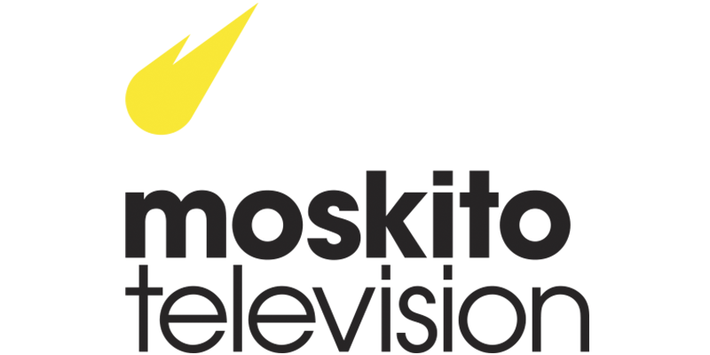 Logo for Moskito Television, who offers film production services across Scandinavia