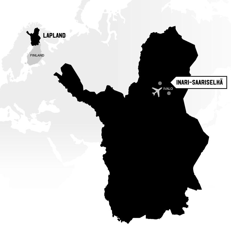 Inari-Saariselkä sijainti kartta