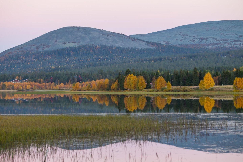 Lapland fells in autumn