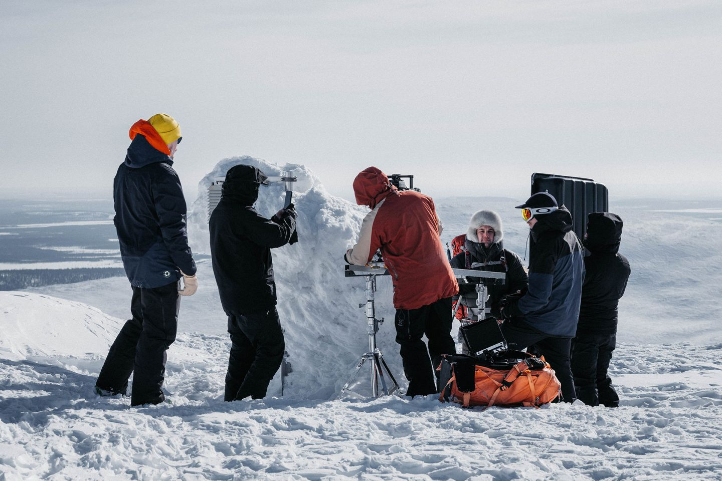 Filming in Arctic conditions