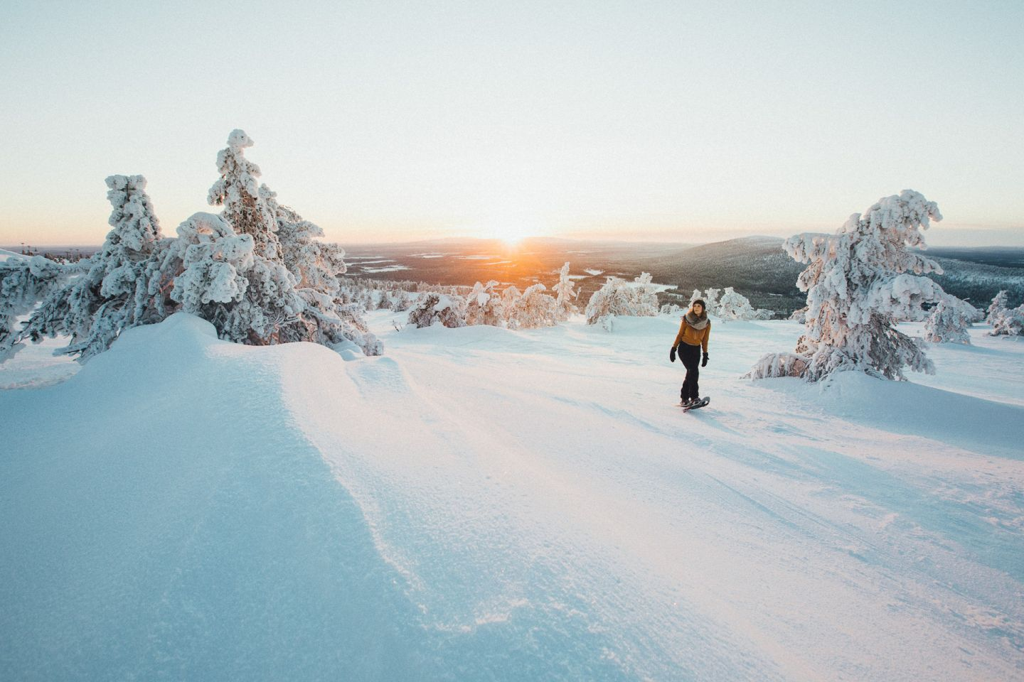 Sunny winter holiday in Levi Lapland Finland