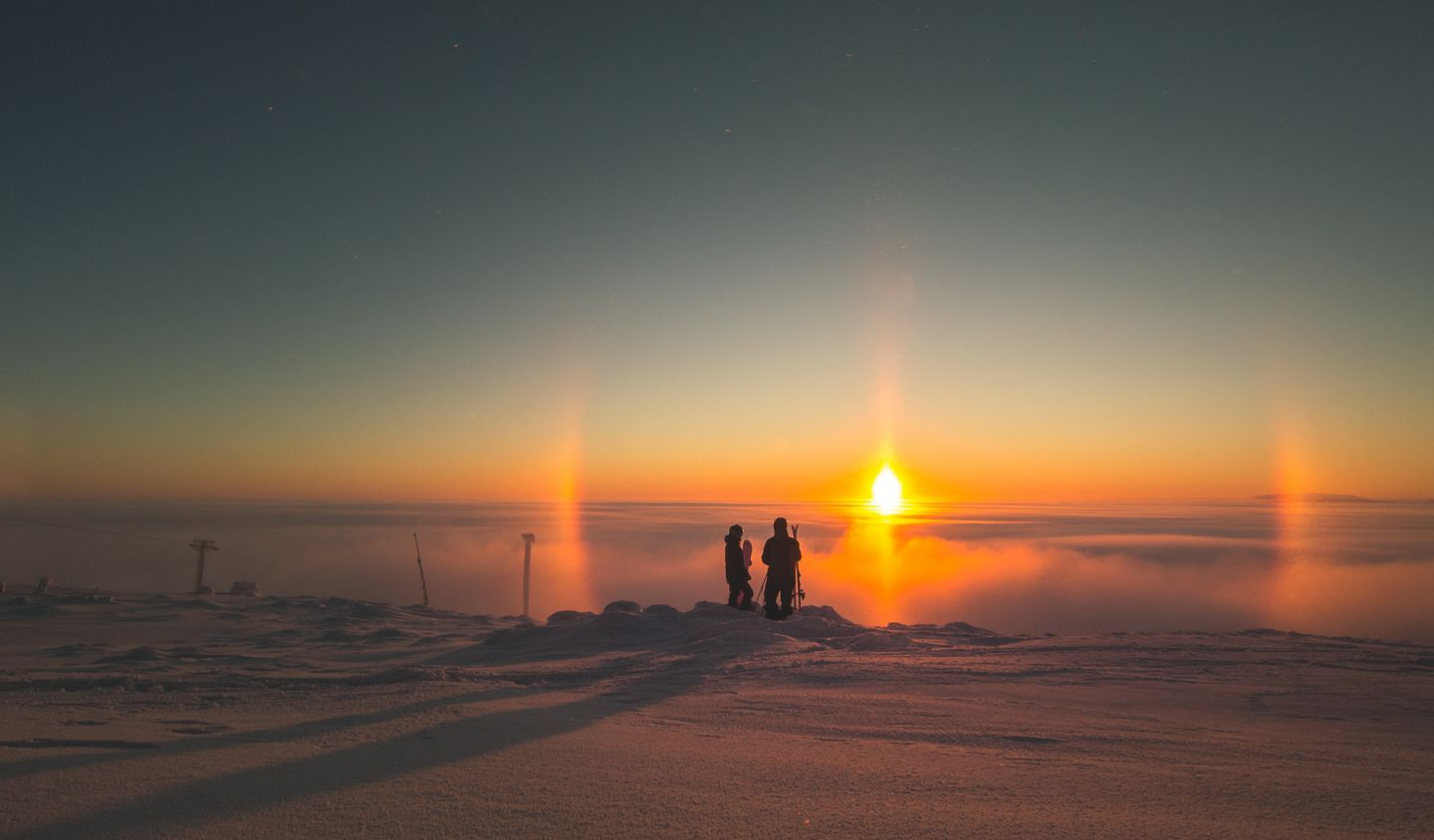 Winter halo in Levi, Finland