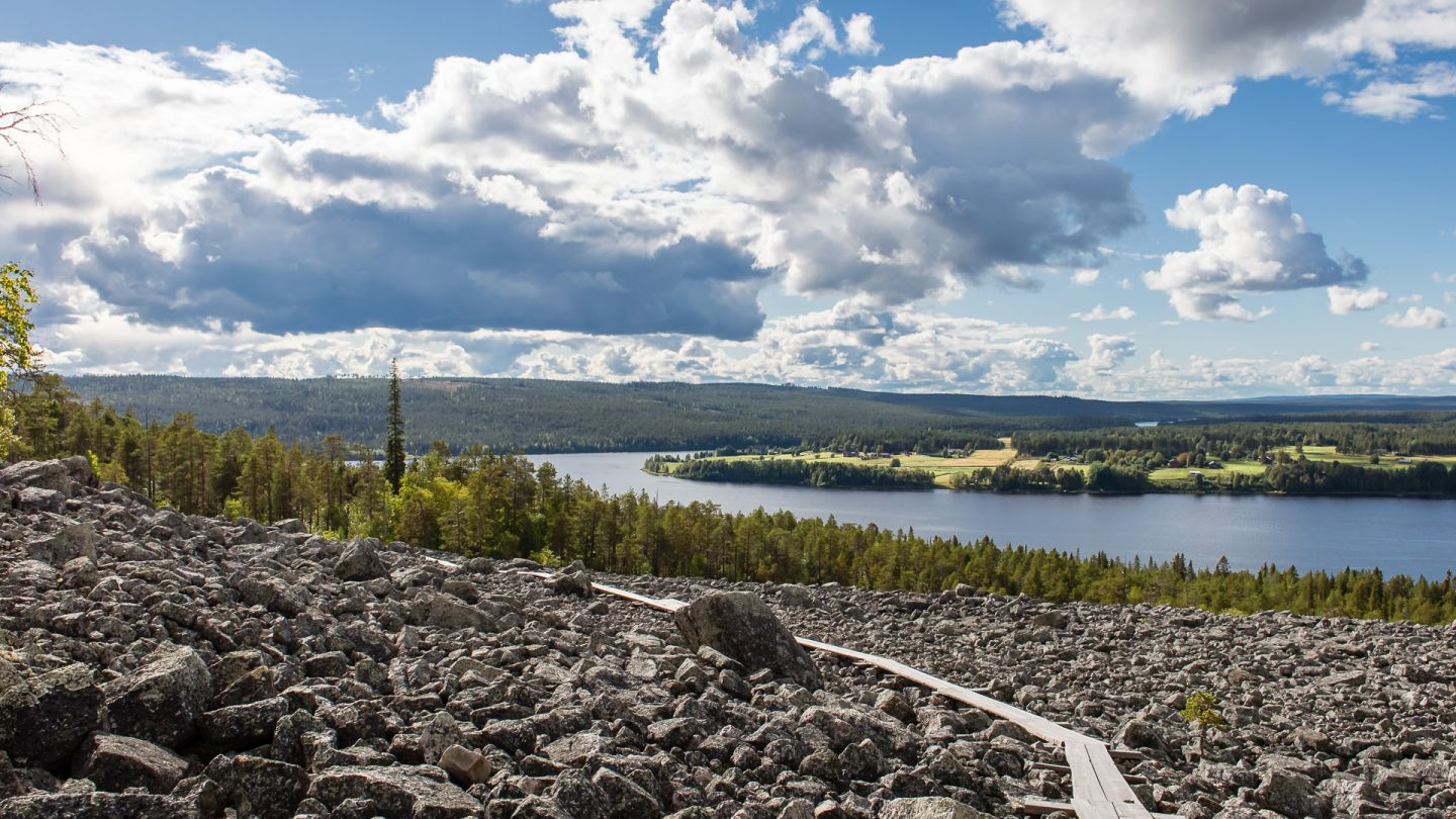 Rocky fell in Kemijärvi Finnish Lapland