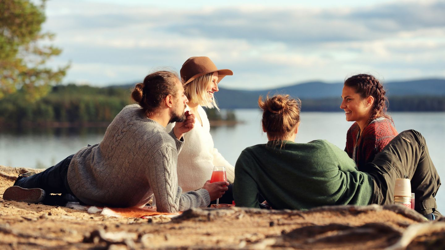 Summer picnic at Kemijärvi, Finnish Lapland